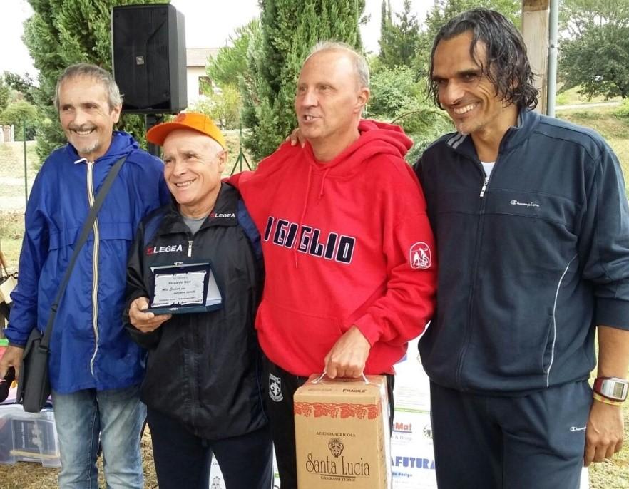 Da sinistra Franco Neri, Silvano Comanducci, Fabrizio Iserani e Paolo Campinoti